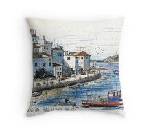 Ferragudo, Praia da Rocha, Portugal Throw Pillow