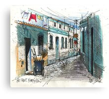 Quiet sidestreet, Ferragudo, Portugal Canvas Print