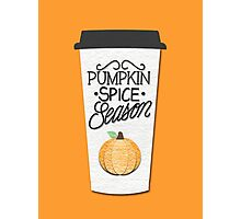 Pumpkin Spice Season Photographic Print