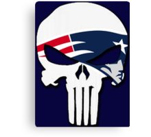 New England Patriots Punisher Logo Canvas Print