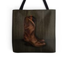 Worn Boots Tote Bag