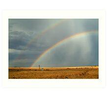 Rain and Rainbows,Rural Geelong Art Print