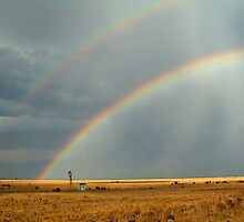 Rain and Rainbows,Rural Geelong by Joe Mortelliti