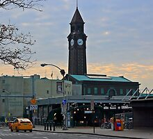 N J Transit's Clock Tower Hoboken NJ by pmarella