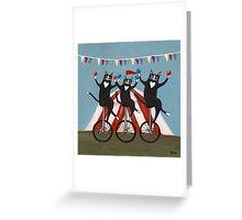 The Circus Jugglers Greeting Card
