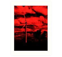 red windmills Art Print