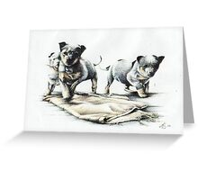 The pups Greeting Card