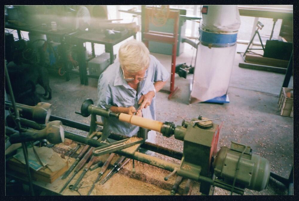 Veikko in the workshop by mantahay