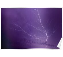 Branching Lightning Bolt Poster