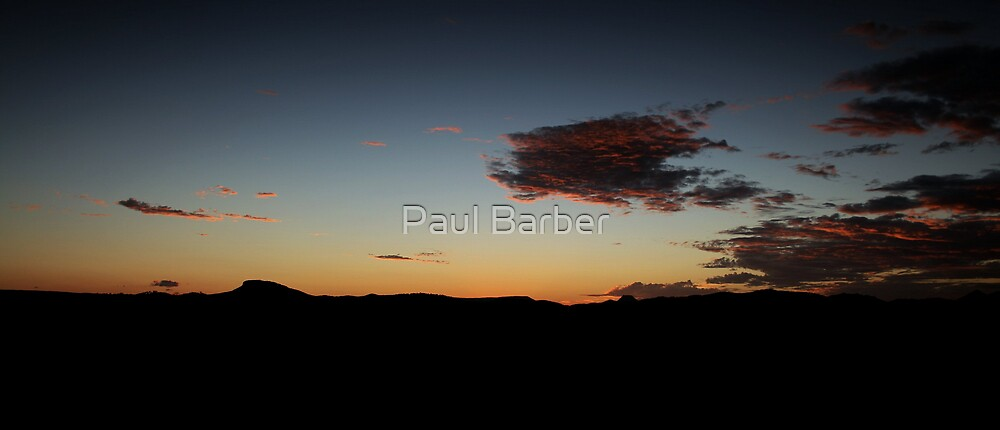 Sunset Coolum Hinterland by Paul Barber