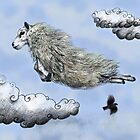 Flying sheep by AnnaShell