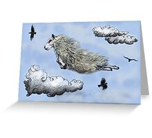 Flying sheep Greeting Card