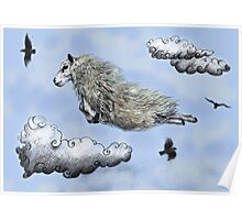 Flying sheep Poster