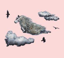 Flying sheep Kids Tee