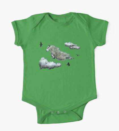 Flying sheep One Piece - Short Sleeve
