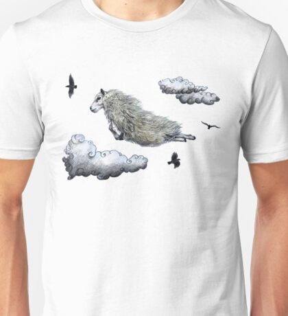 Flying sheep Unisex T-Shirt