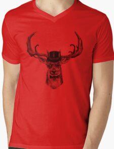 Mr Deer Mens V-Neck T-Shirt