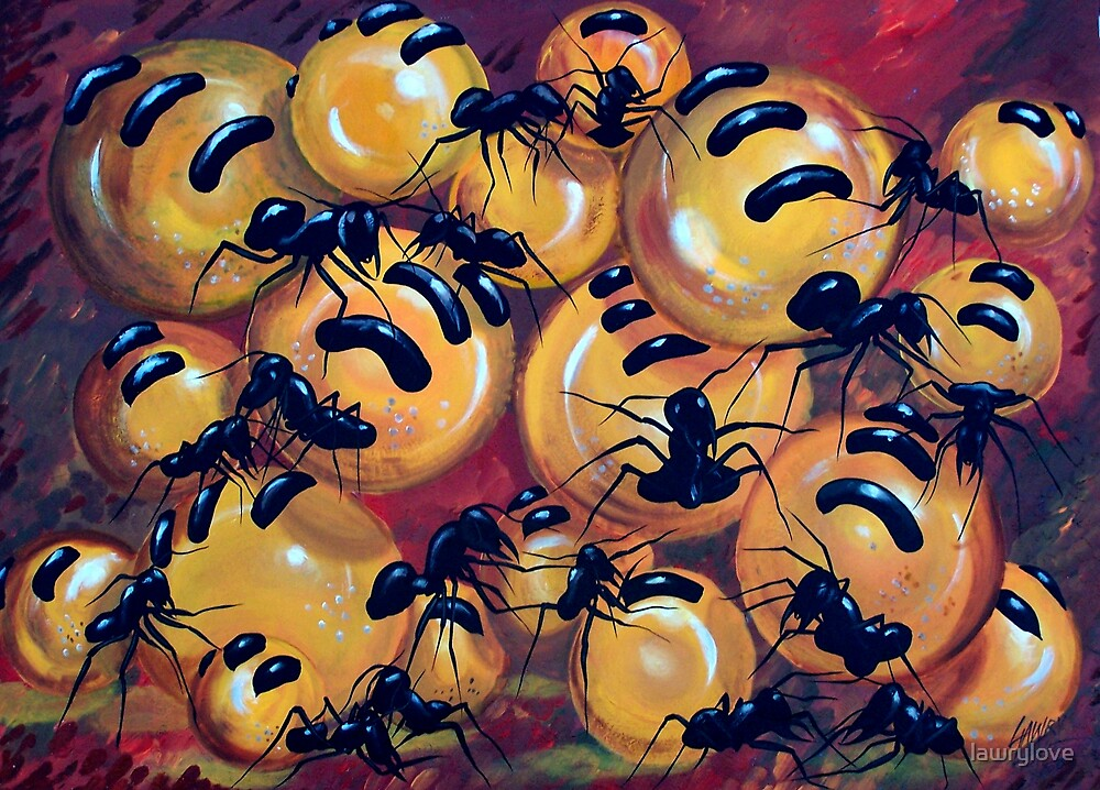 Honey ants painting by lawrylove