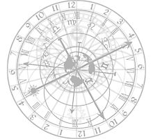 astronomical clock with zodiac signs Photographic Print