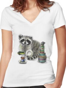 Master of Dishes Women's Fitted V-Neck T-Shirt
