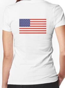 American Flag, Stars & Stripes, Pure & Simple, America, USA Women's Fitted V-Neck T-Shirt