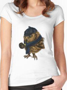 Sherlock // owl Women's Fitted Scoop T-Shirt