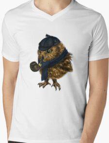 Sherlock // owl Mens V-Neck T-Shirt