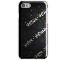 Knob from a vintage analog electric meter iPhone Case/Skin