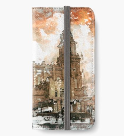 Manti LDS Temple Watercolor Photo iPhone Wallet/Case/Skin