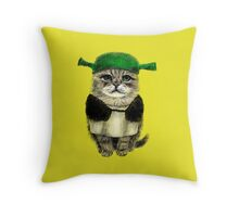 My owner is an IDIOT Throw Pillow