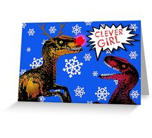 Raptor Noel! Greeting Card
