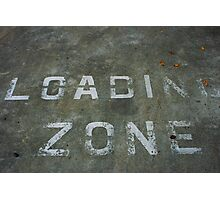 LOADING ZONE Photographic Print