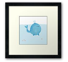 The Enigmatic Pudding Whale Framed Print