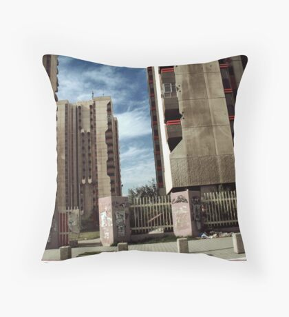 Haifa Street Apartments Throw Pillow
