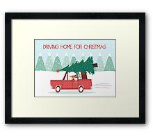 Driving Home For Christmas Framed Print