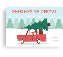Driving Home For Christmas Canvas Print