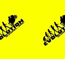 Biker Evolution Eat, Sleep, Rev... Repeat Yellow mug by outlawalien