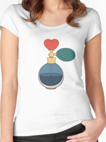 Perfume bottle with heart Women's Fitted Scoop T-Shirt