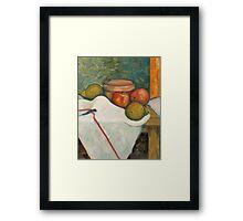 Apple & Pear Still Life Framed Print