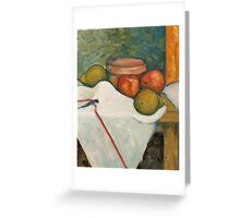 Apple & Pear Still Life Greeting Card