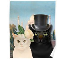 Charming Cats Wedding  Poster