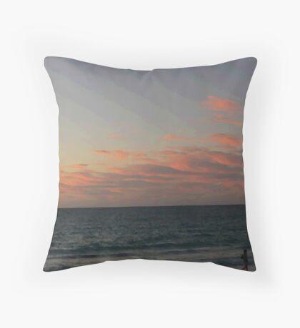 Sunset at Port Beach#2 Throw Pillow