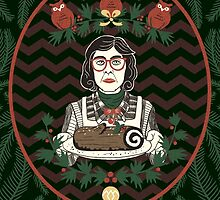 Yule Log Lady by littleclyde