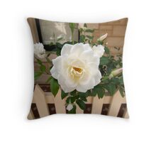 Peony and bud Throw Pillow