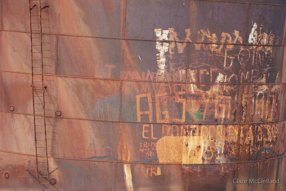 Rusty Graffiti by Clare McClelland