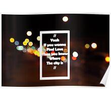 The 1975 The City Lyrics Street Lights Poster
