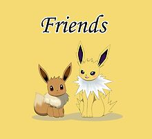 Eevee & Jolteon by Winick-lim