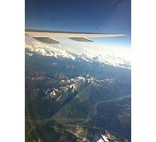 Cool airplane view Photographic Print
