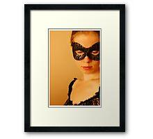 T Mac Masquerade Self Portrait 1 Framed Print
