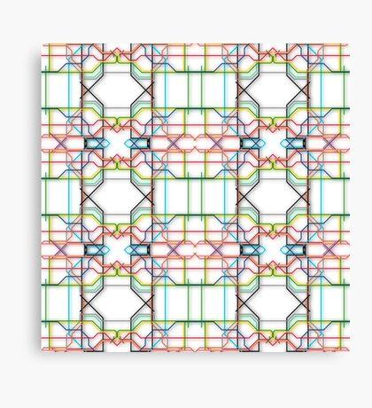 Tube Lines Canvas Print